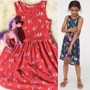 H&M Parrot 🦜 Pattern Jersey Dress 6-7